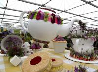 Time for Tea Interflora stand at RHS Chelsea 2015