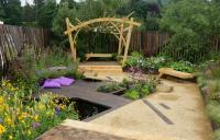 The Urban Flow Garden at the 2018 RHS Chelsea flower showThe Great Out Doors Garden at the 2018 RHS Chatsworth flower show